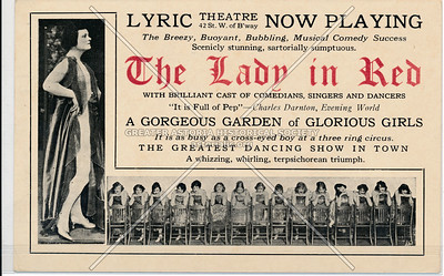 The Lady in Red, Lyric Theatre, 42 St. W of B'way (1919)