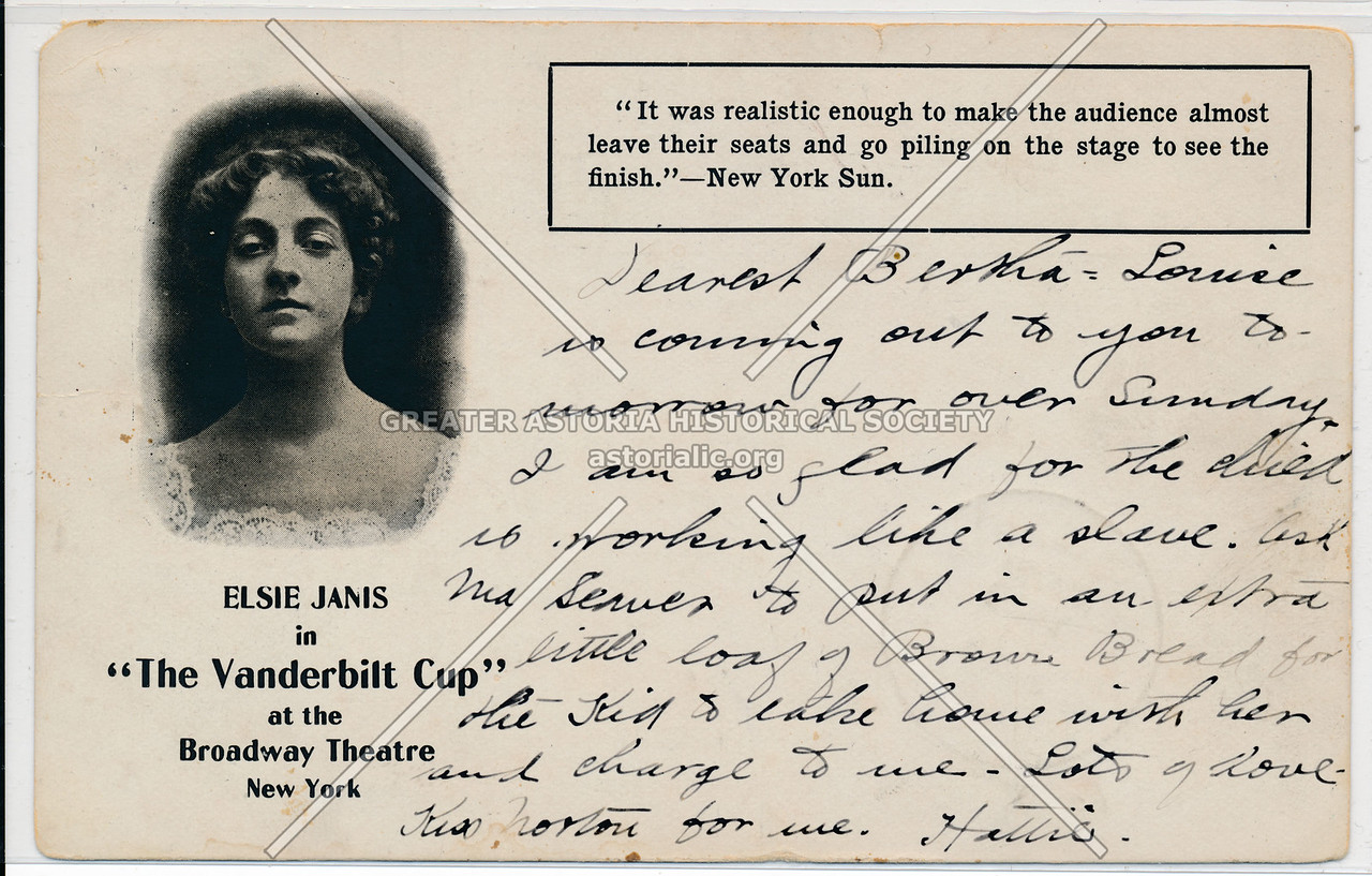 "Elsie Janis in ""The Vanderbilt Cup"" at the Broadway Theatre, New York"