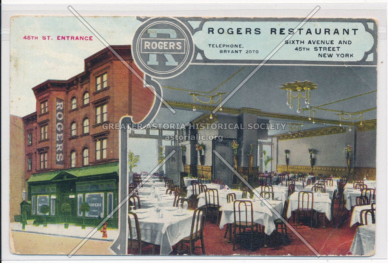 45th St. Entrance, Rogers Restaurant