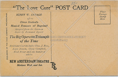 """The Love Cure"", New Amsterdam (back)"