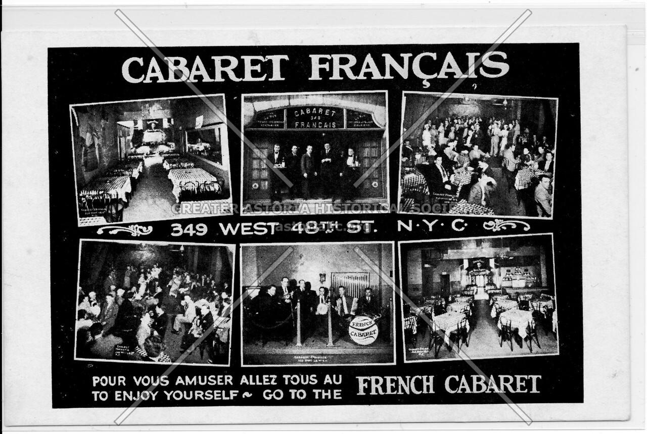 Cabaret Francais, 349 West 48th St., N.Y.C.
