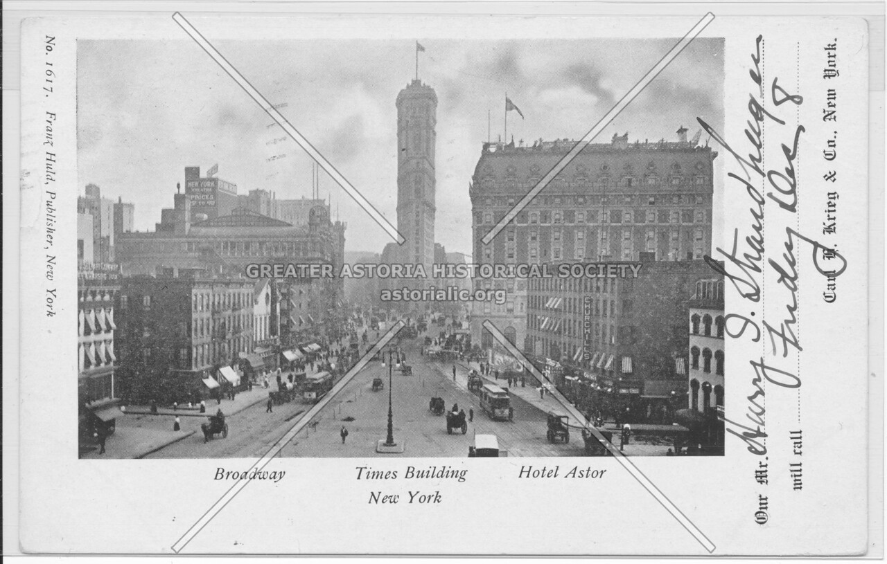 Broadway, Times Building, Hotel Astor, North View