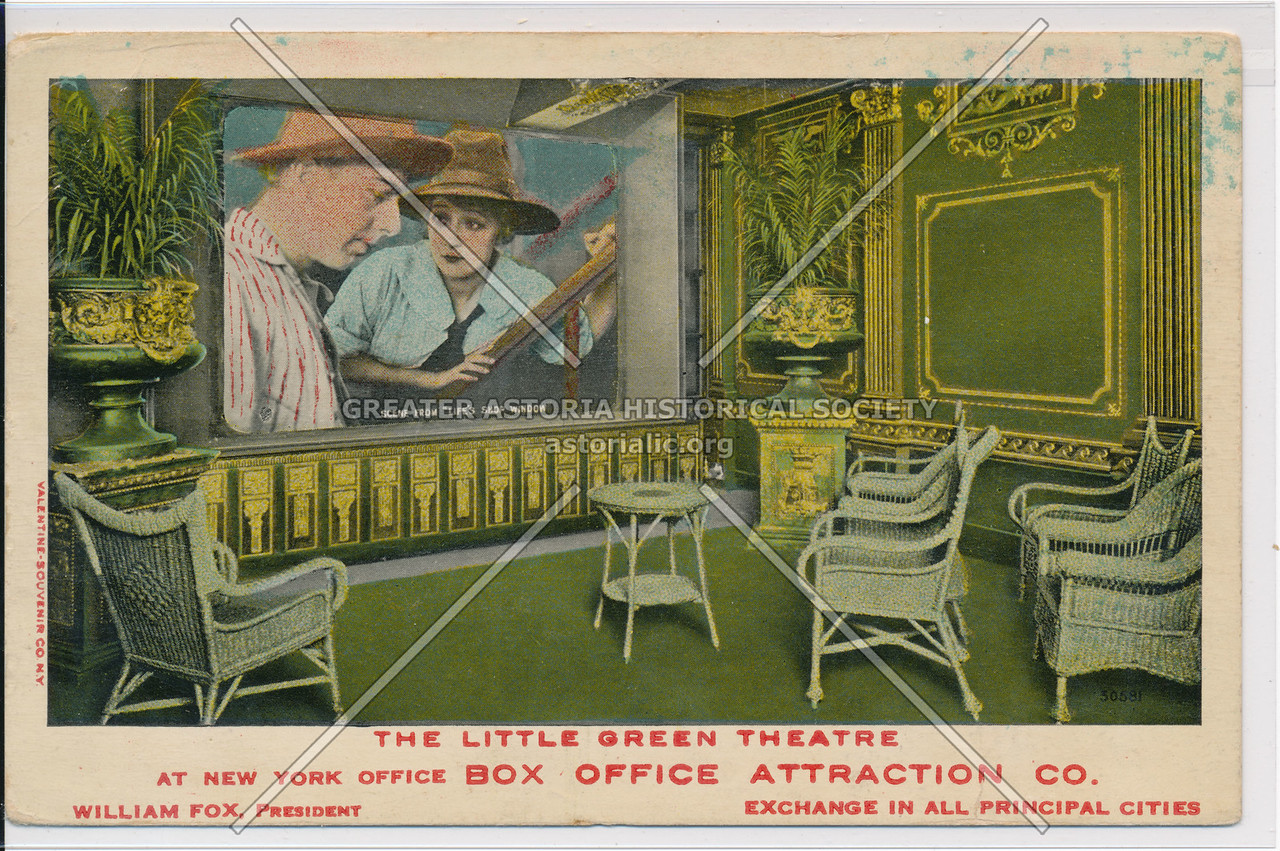 The Little Green Theatre At New York Office Box Office Attraction Co.