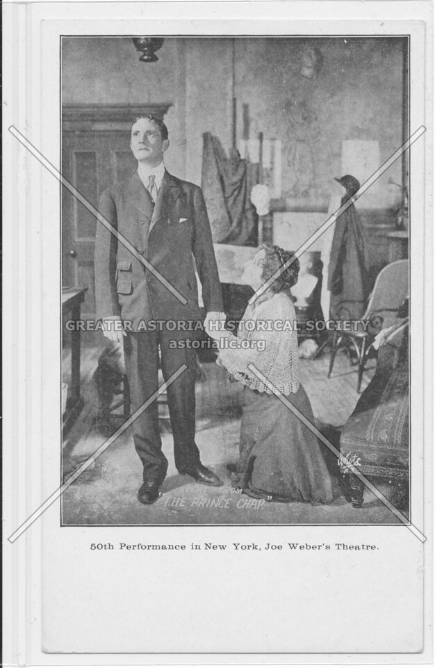 """Scene From """"The Prince Chap' 50th Performance in New York, Joe Weber's Theatre"""