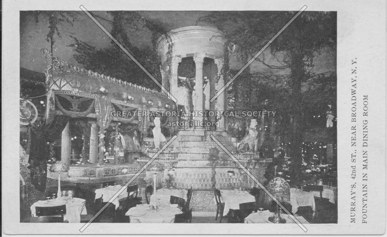 Murray's Roman Gardens, 42nd St., Near Broadway, N.Y. Fountain In Main Dining Room