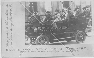 Starts From New York Theatre, Broadway & 44th St., (Off. Hotel Astor.)