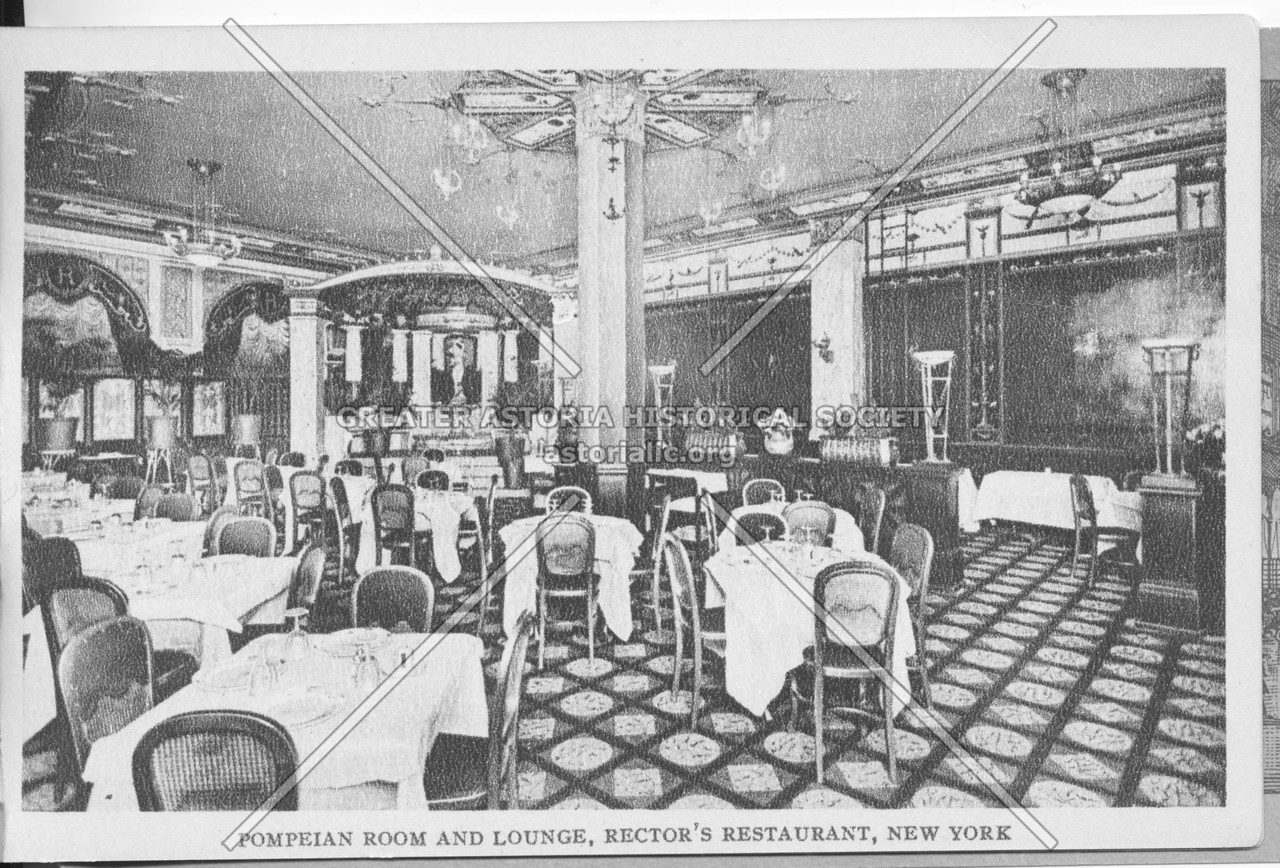 Pompeian Room And Lounge, Rector's Restaurant, New York