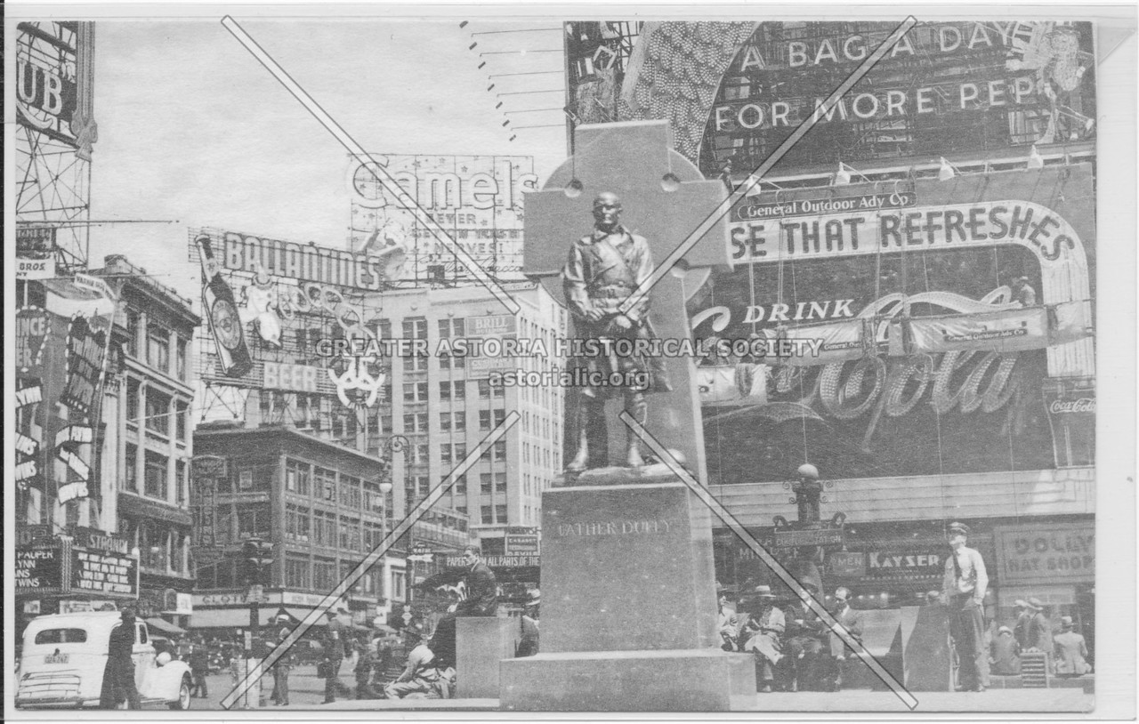 Father Duffy Statue c 1930s, NYC