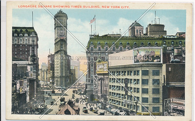 Longacre Square Showing Times Building, New York City