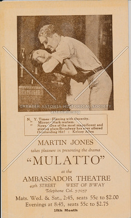 """Mulatto"" at the Ambassador Theatre"
