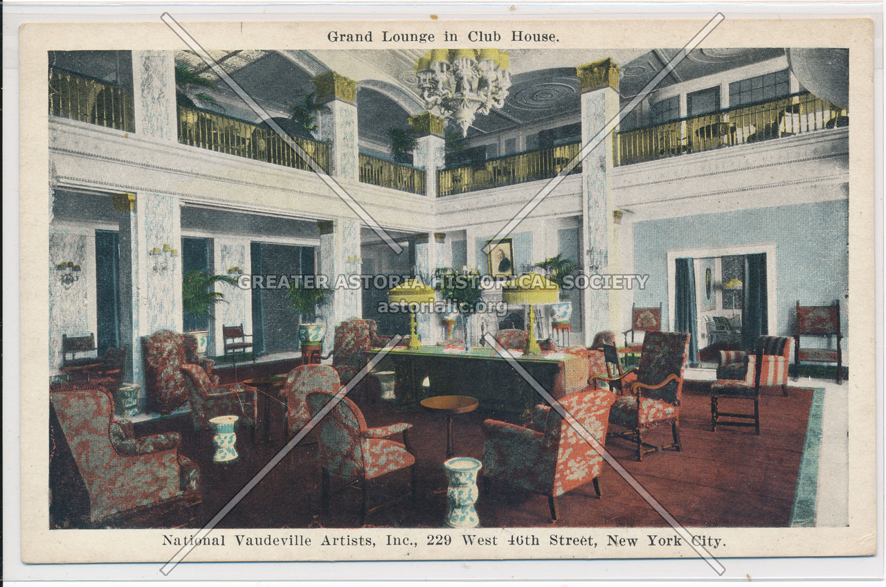 Grand Lounge in Club House, National Vaudeville Artists, Inc.