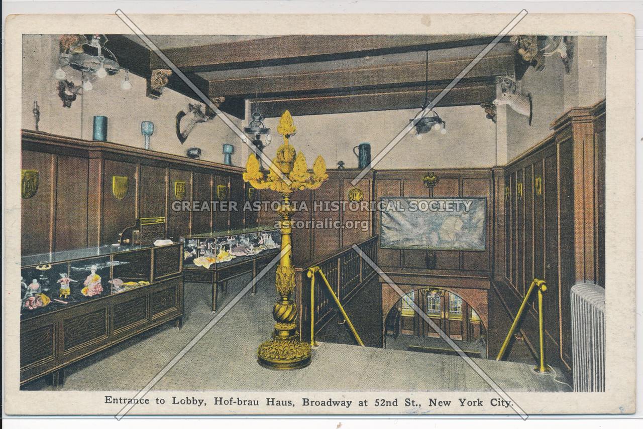 Enrance to Lobby, Hof-brau Haus, Broadway at 52nd St., New York City