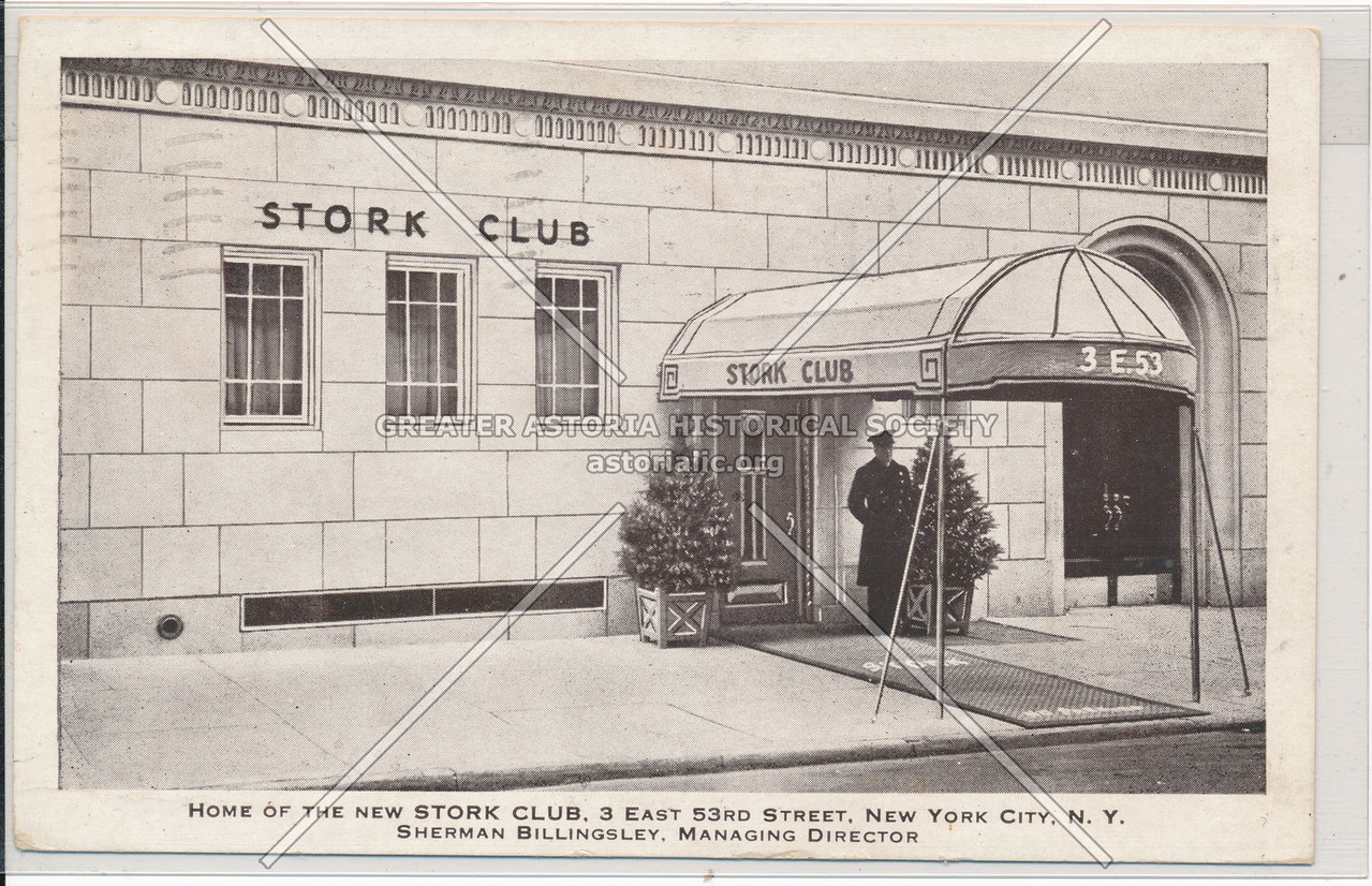 Home Of The New Stork Club, 3 East 53rd Street, New York City, N.Y.