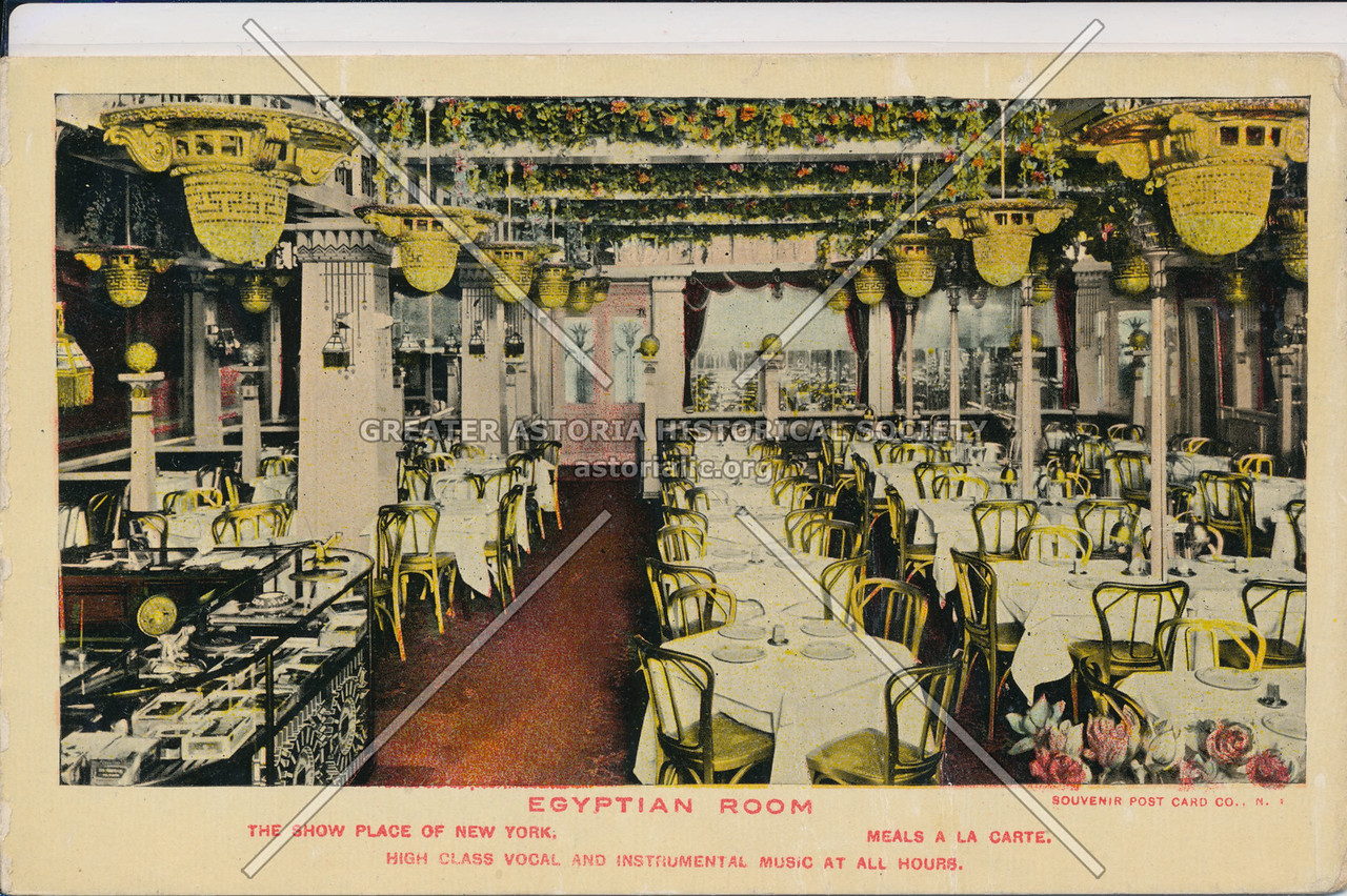Egyptian Room, The Show Place Of New York