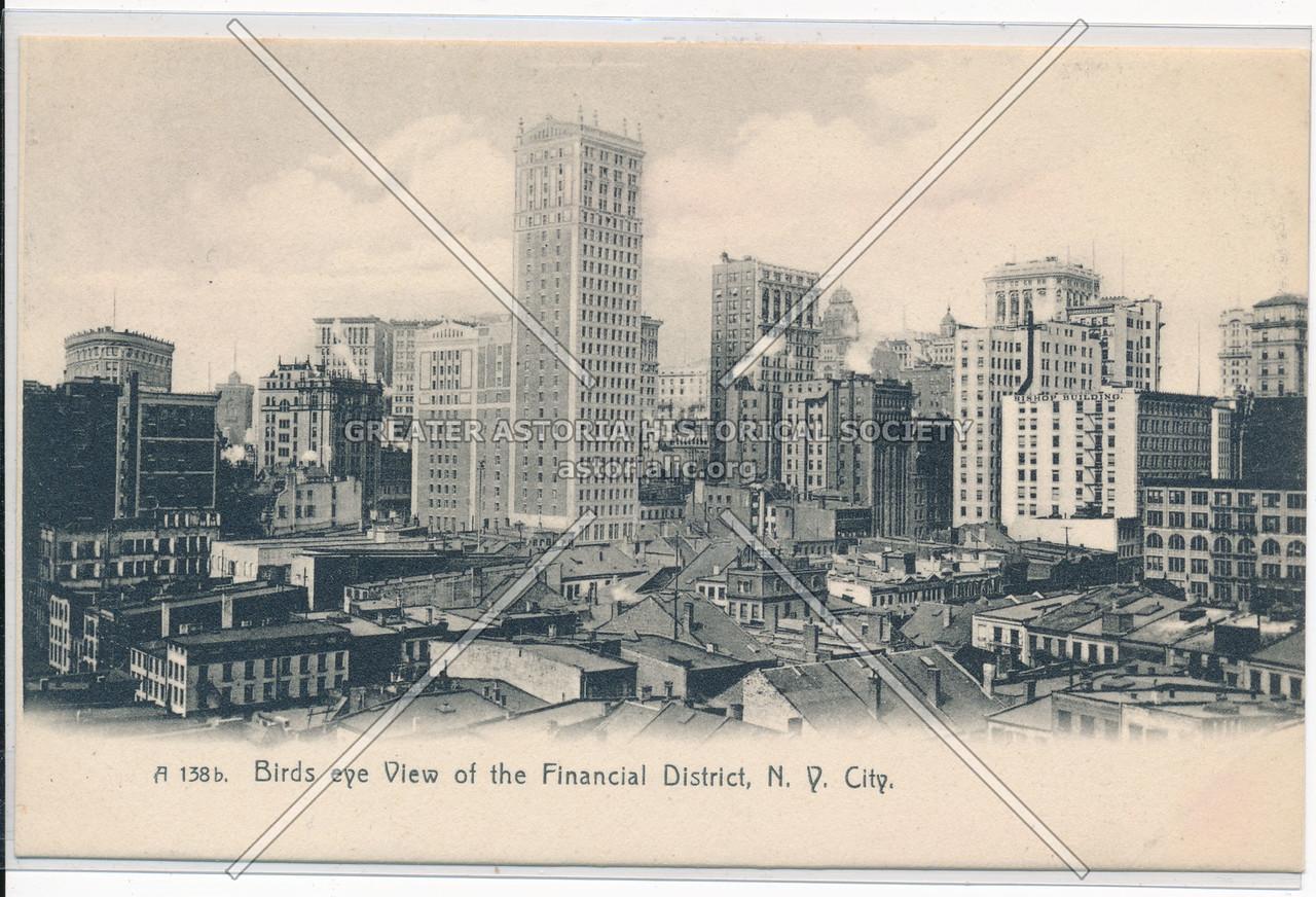 Birds Eye View of Financial District