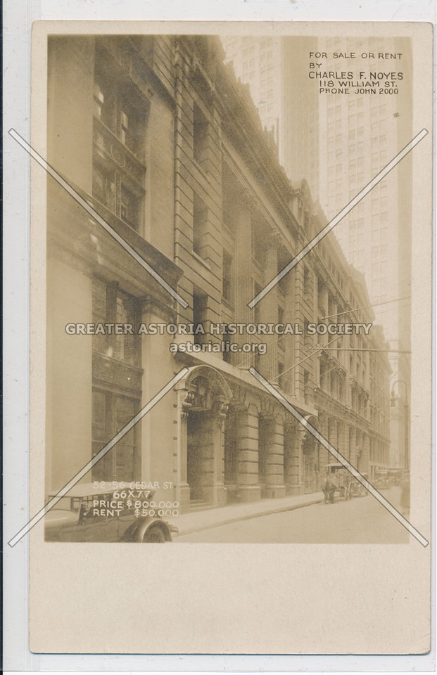 118 William Street - Real Estate Ad Charles Noyes NYC