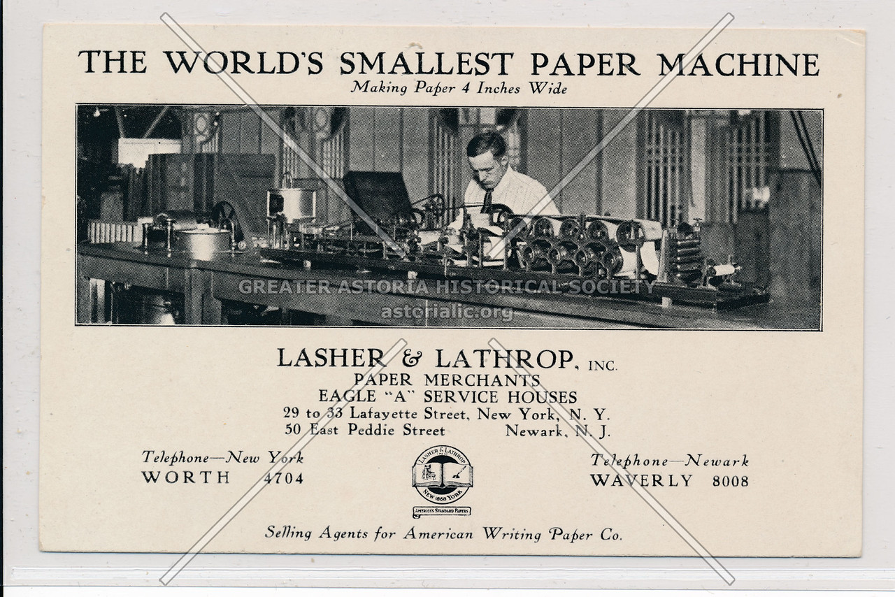 Worlds Smallest Paper Machine Ad
