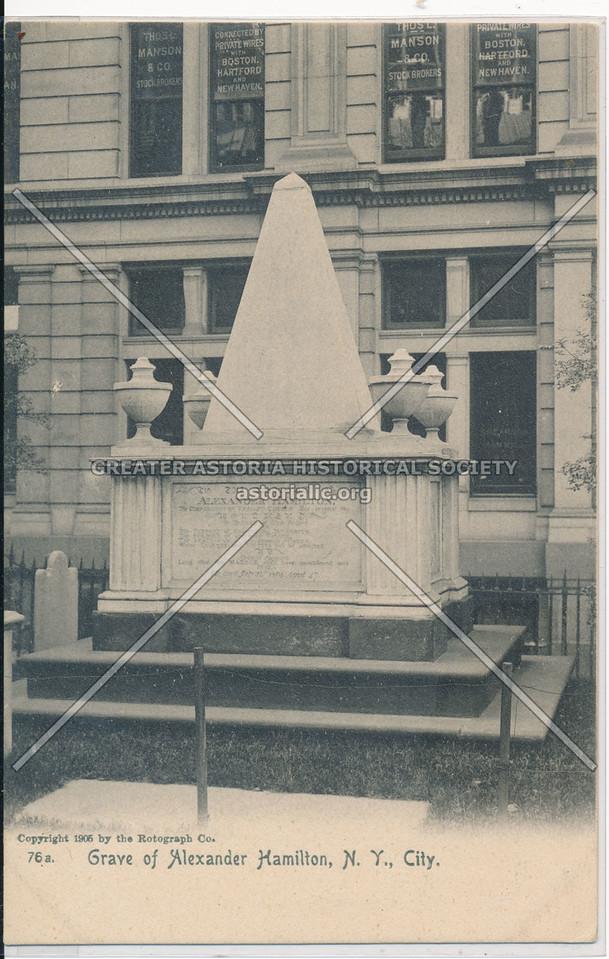 Grave of Alexander Hamilton, N.Y., City