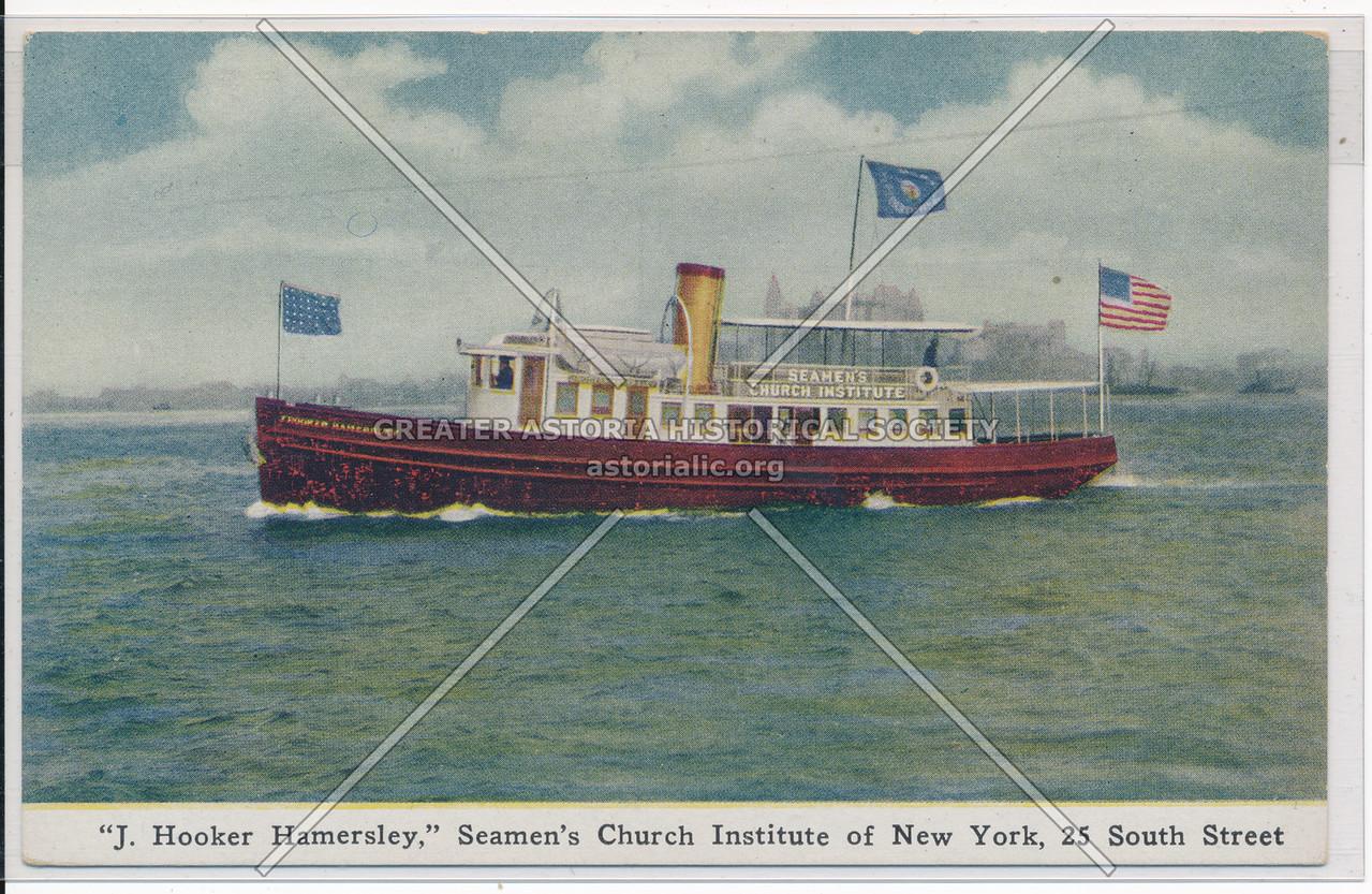 """J. Hooker Hamersley,"" Seamen's Church Institute of new York, 25 South Street"