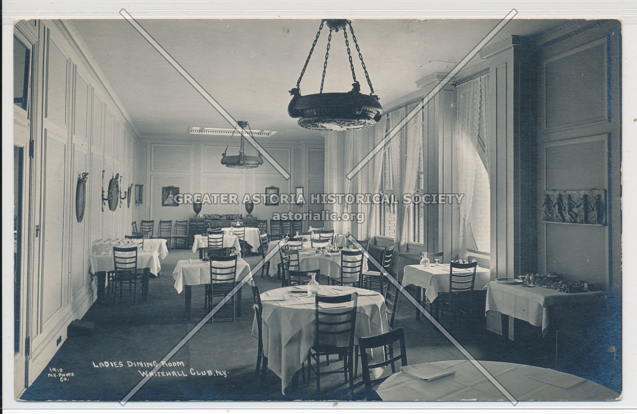 Ladies' Dining Room, Whitehall Club, N.Y.