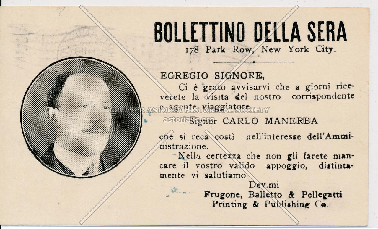 Bollettino Dell Sera (Italian)