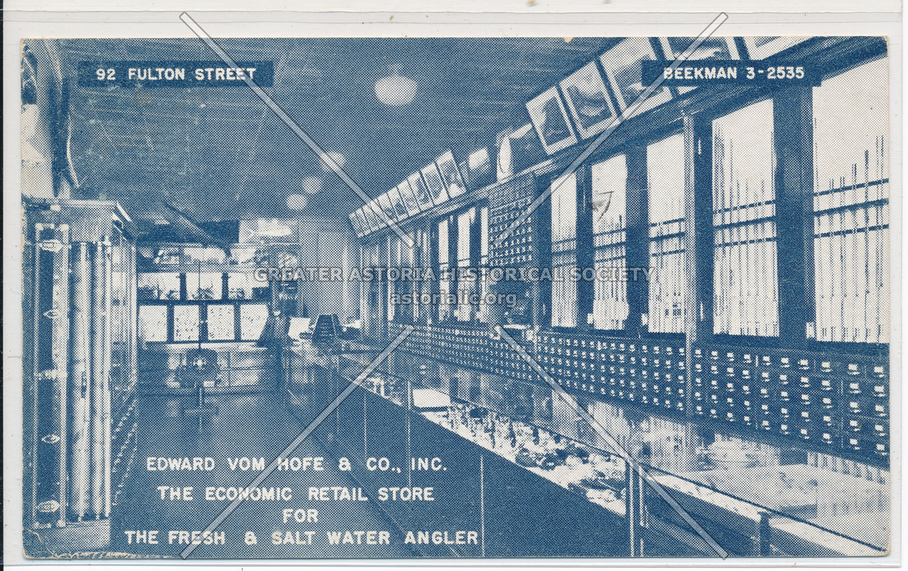 Edward Vom Hofe & Co., Inc. The Economic Retail Store For The Fresh & Salt Water Angler