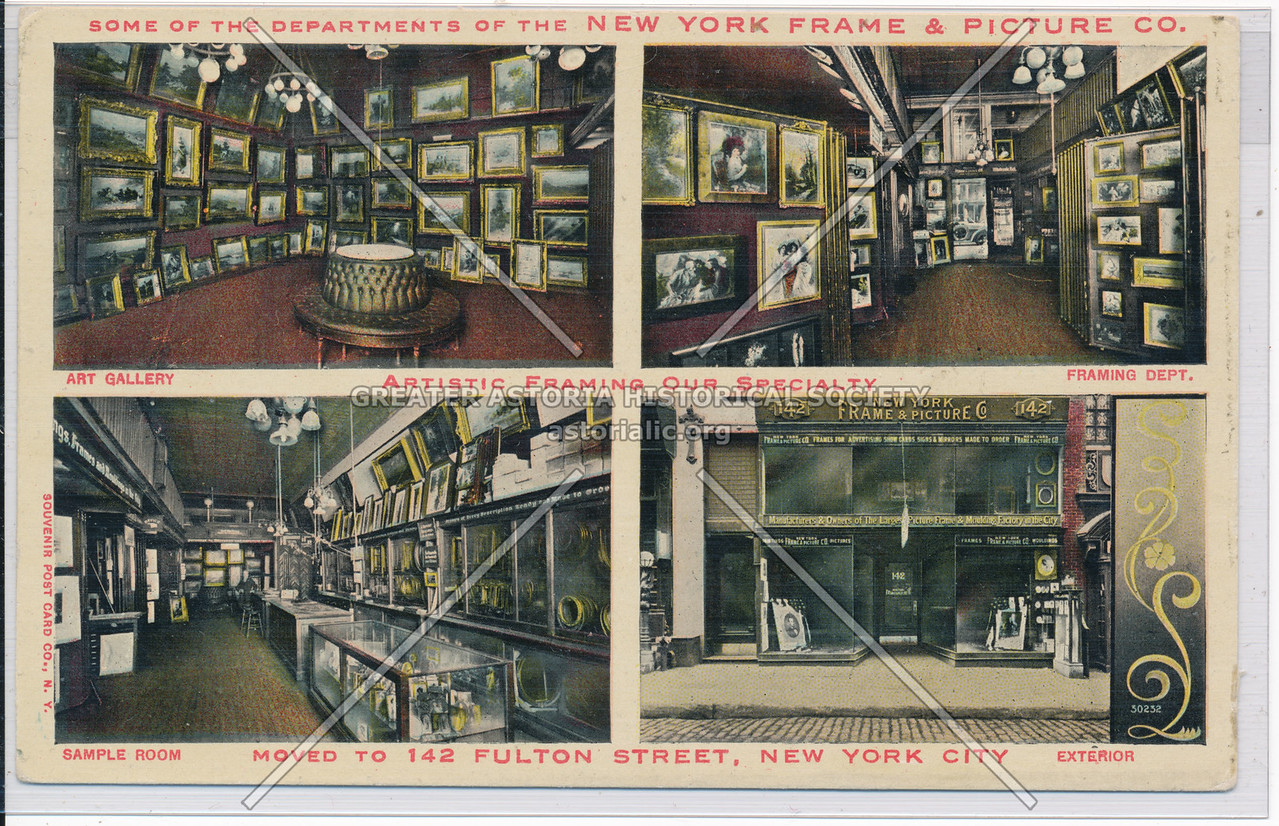 Some Of The Departments Of The New York Frame & Picture Co. NYC