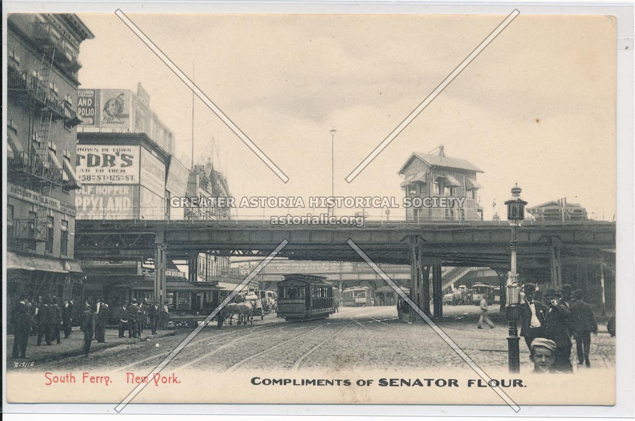 South Ferry, New York, Compliments Of Senator Flour