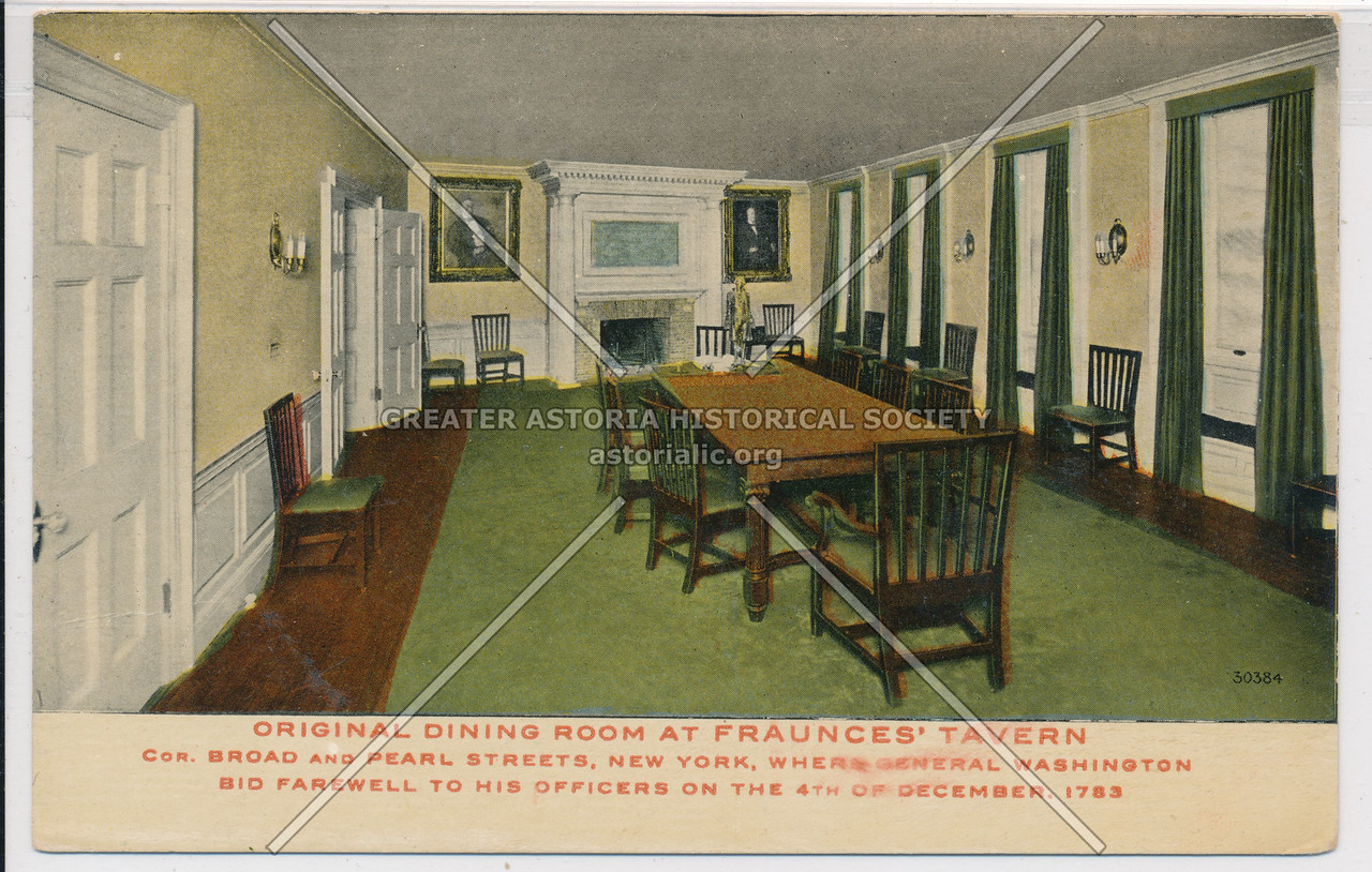 Original Dining Room Fraunces Tavern