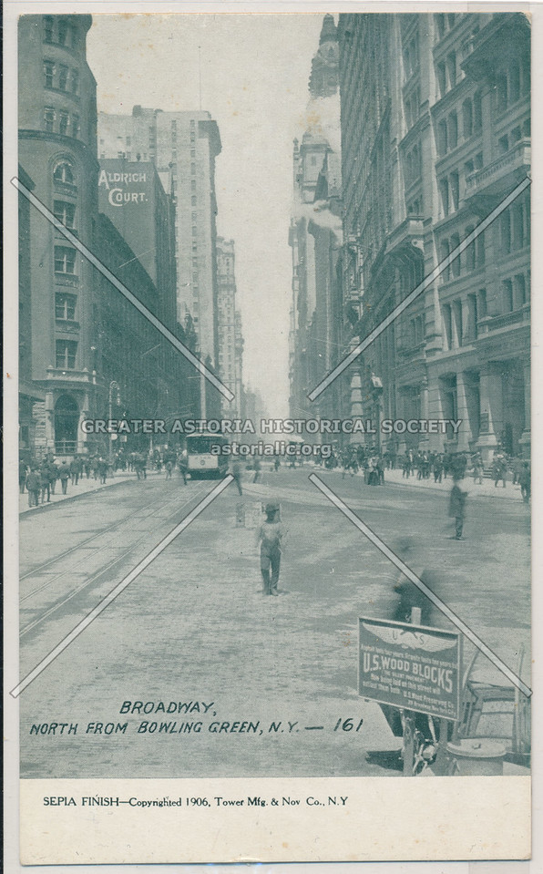 Broadway, North From Bowling Green, N.Y. -161