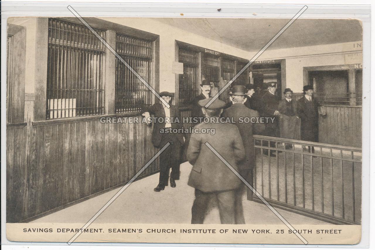 Savings Department, Seamen's Church Institure Of New York, 25 South Street