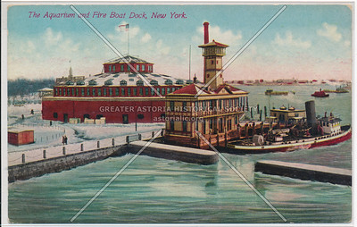 The Aquarium and Fire Boat Dock, New York