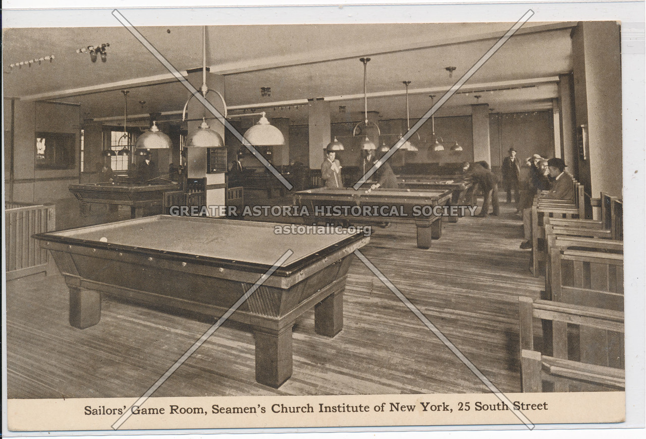 Sailors' Game Room, Seamen's Church Institute of New York, 25 South Street