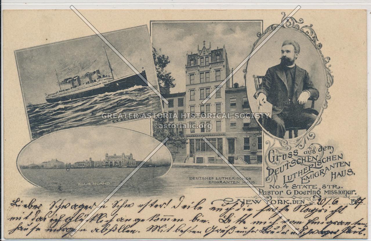 S.S. Deutshland, Ellis Island, Deutshes Lutherisches Emigranten Haus