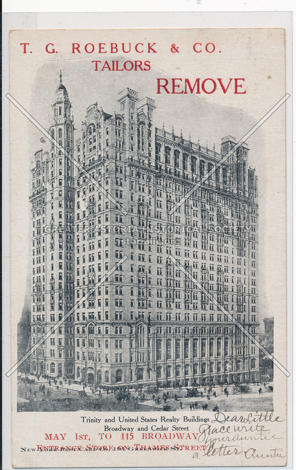 T.G. Roebuck & Co. Tailors Remove