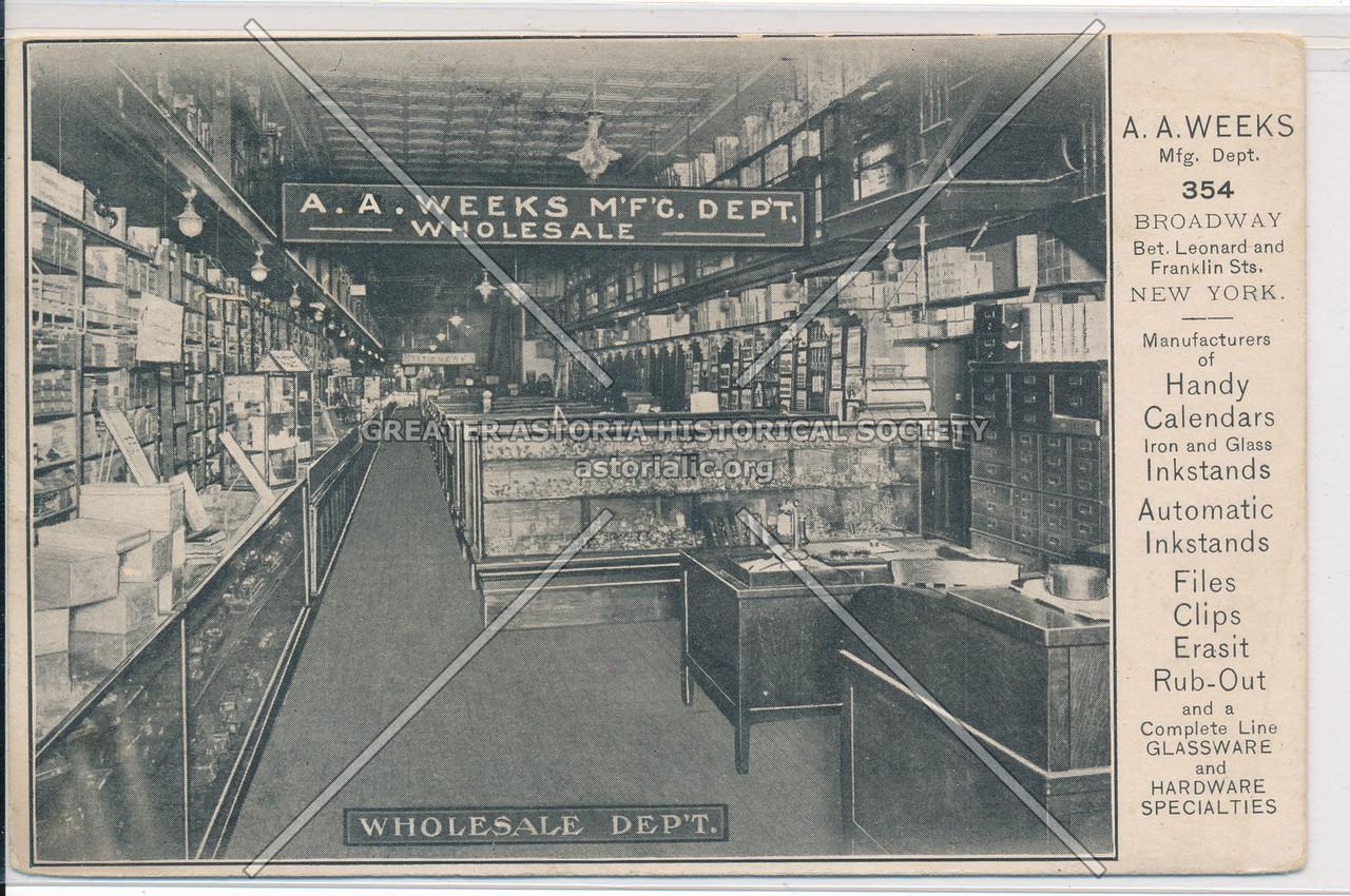 A A Weeks Wholesale Dept