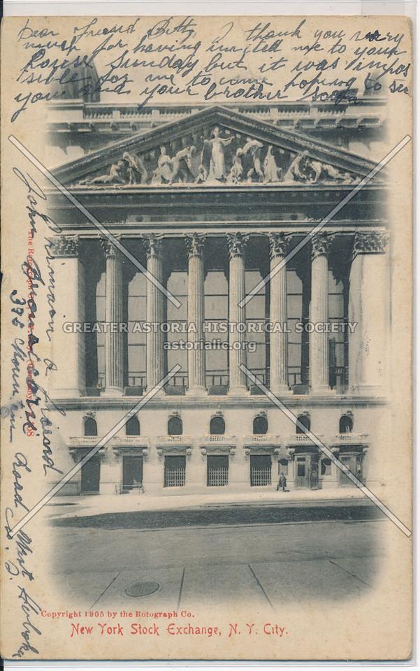 New York Stock Exchange, N.Y. City