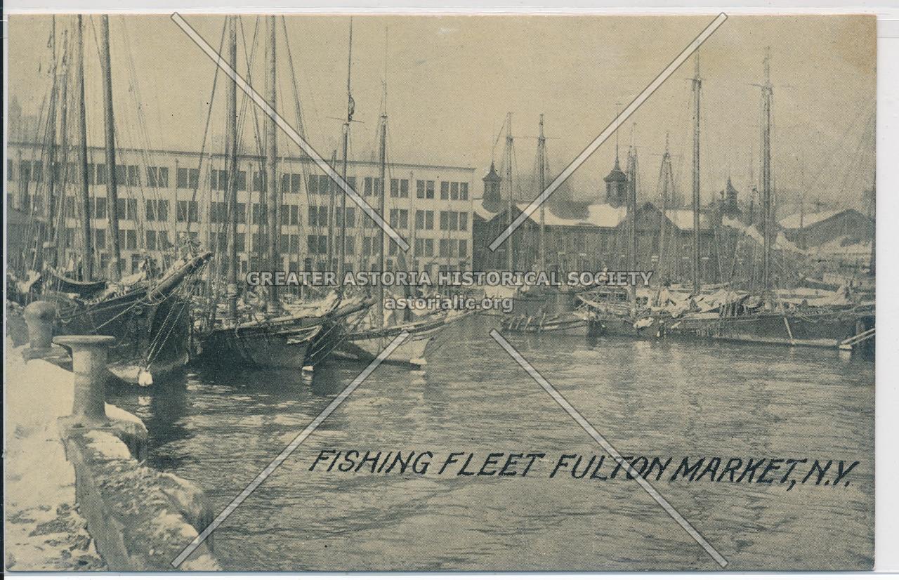 Fishing Fleet Fulton Market, N.Y.