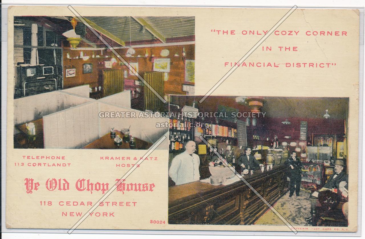 Ye Olde Chop House 116 Cedar Street