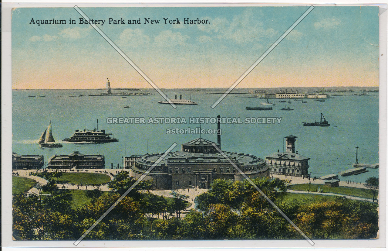 Aquarium in Battery Park and New York Harbor