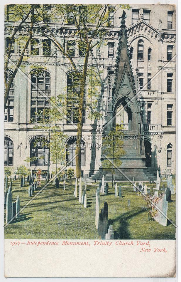 Independence Monument, Trinity Church Yard, New York