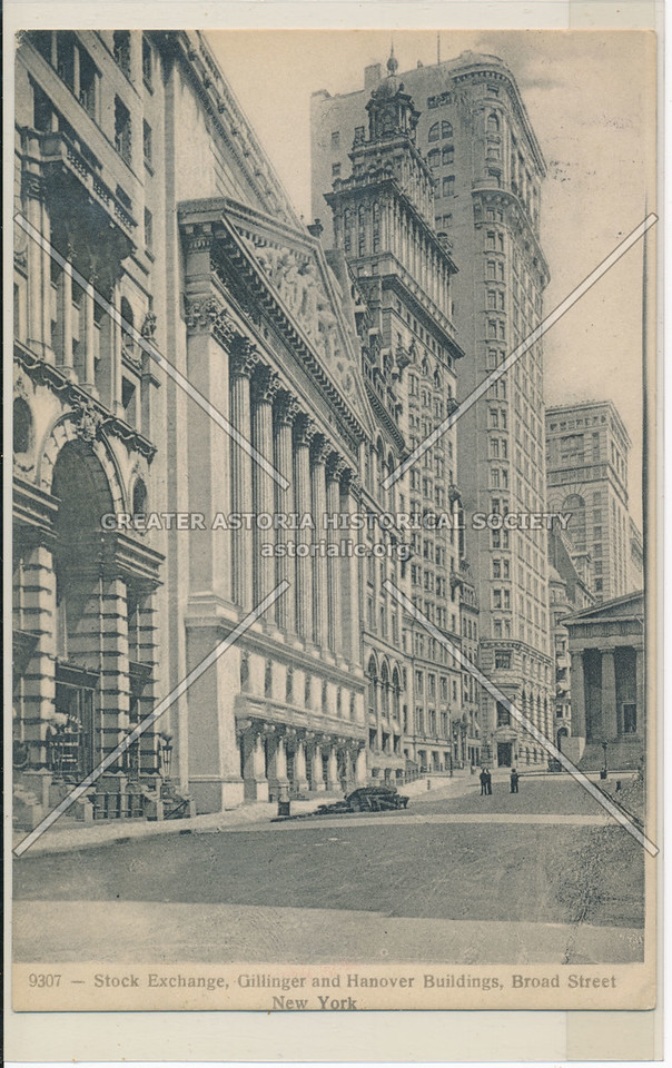Stock Exchange, Gillinger and Hanover Buildings, Broad Street, New York