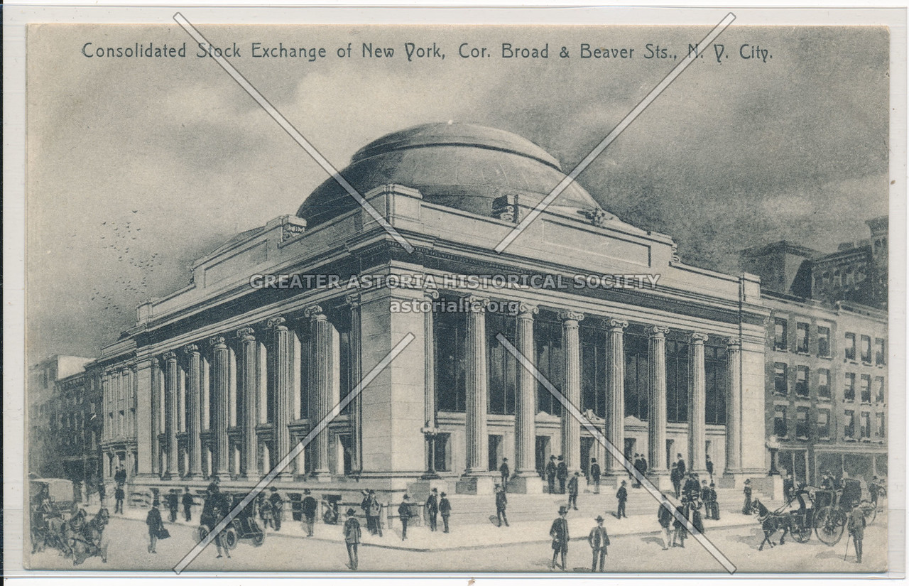 Consolidated Stock Exchange of New York, Co. Broad & Beaver Sts., N.Y. City