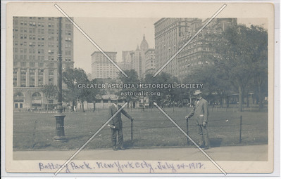Battery Park, New York City, July 14, 1912