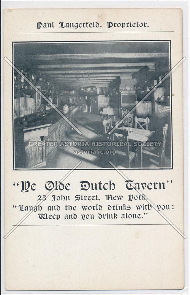 Ye Olde Dutch Tavern, 23 John Street