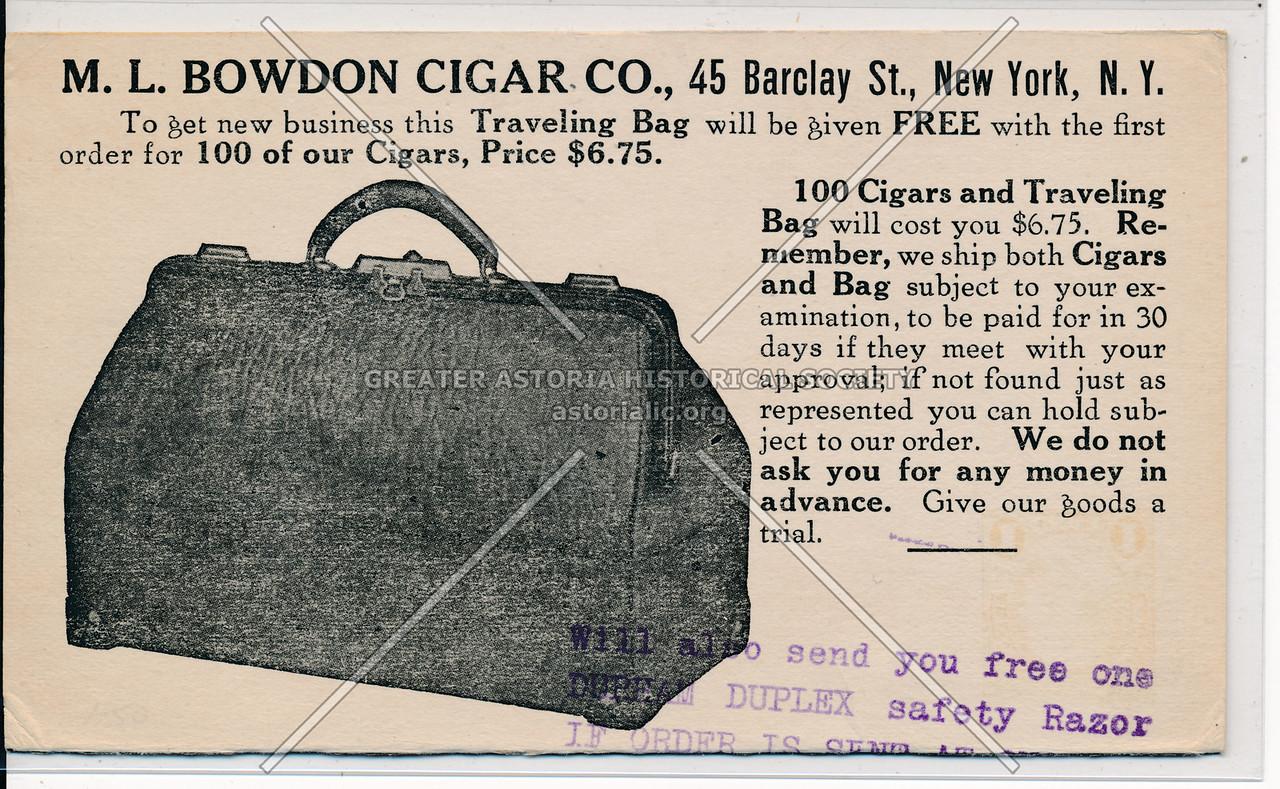Bowdon Cigar Ad