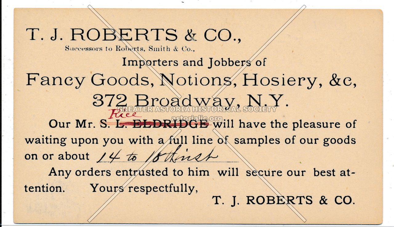 Roberts Fancy Goods Ad