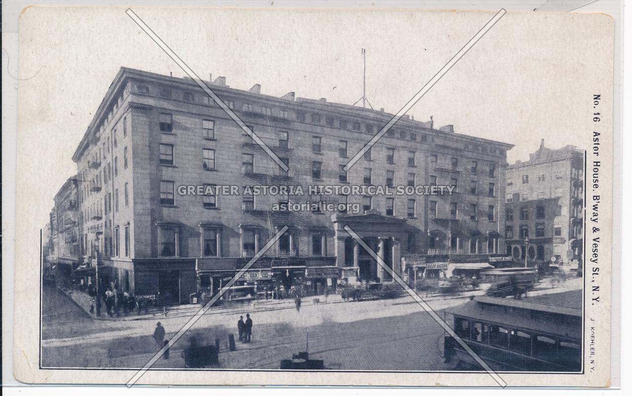 No. 16 Astor House, B'way & Vesey St., N.Y.