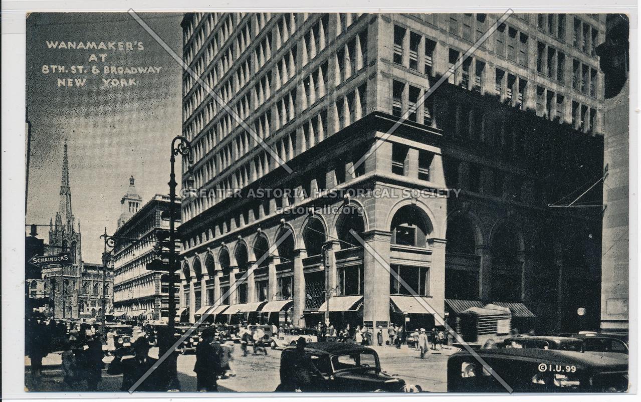 The Wanamaker Store, New York.