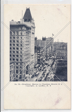 Broadway, Murray to Chambers Streets, N.Y.